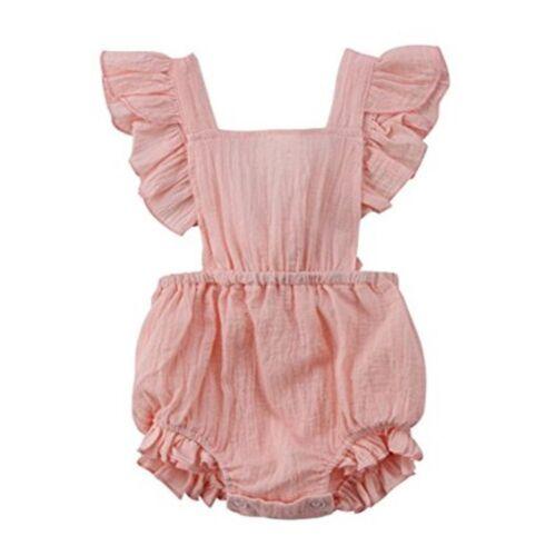 Newborn Baby Girl Summer Flower Clothes Romper Jumpsuit Bodysuit Sunsuit Outfits
