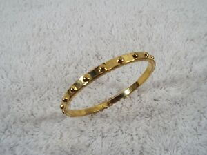 KATE-SPADE-New-York-Knobby-Goldtone-Bangle-Bracelet-C28