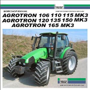 image is loading deutz-fahr-agrotron-150-service-manual-106-110-