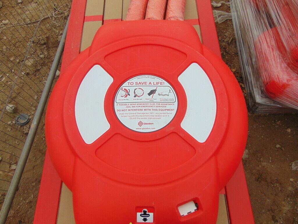 Glasdon Guardian ™ Lifebuoy vivienda, Lifebouy & Rescue Cuerda Kit 600mm Nuevo