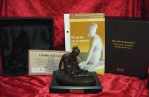 DeAgostini bronce personaje ninfa con escorpión con certificado reprod. a. bronce nuevo  </span>