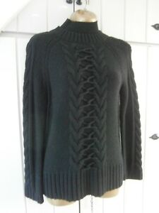 Maglione 2 Karen Cable Turtle Neck Maglione Size 12 Jumper Millen Medium Black rSaqwdrv