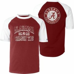 3711adaa3 Alabama Crimson Tide T-Shirt Men's Run And Shoot Champion NCAA Red ...