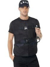 ADULT MENS SWAT MAN INSTANT KIT COPS & ROBBERS HALLOWEEN FANCY DRESS - ONE SIZE