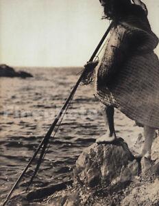 1900/72 Vintage EDWARD CURTIS Native American Indian Spear ...