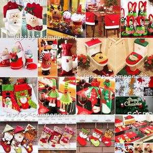 Christmas-Xmas-Tree-Santa-Tableware-Ornaments-Candy-Bag-Hanging-Party-Home-Decor