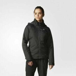 adidas-Women-039-s-Lightweight-Insulated-Black-Wind-amp-Rain-Proof-Jacket-Coat-A98479
