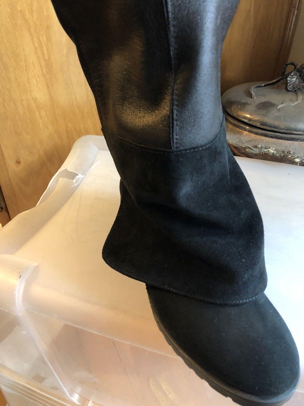 Andre Assous auténtico de gamuza Mode rodilla largo guante guante guante fit botas talla 6m Italia 9c1f65