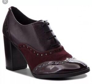 selva Abuelo Repeler  BRS* Geox Womens D Heriete Dark Burgundy Lace Up Shoes EU 38.5 | eBay