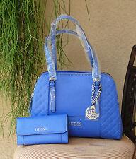 NWT Beautiful GUESS Huntley Cali Satchel Handbag & Wallet Set Color Periwinkle