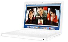 Apple MacBook; Running on Lion (64bit OSX 10.7.5); 4G ram, 160G HD; DVD burner