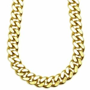 14K GOLD PLATED CUBAN 040 LINK CHAIN 18 INCH J122