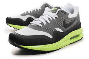 sports shoes 097bc edde4 Image is loading MEN-S-NIKE-AIRMAX-LUNAR-1-GREY-BLACK-