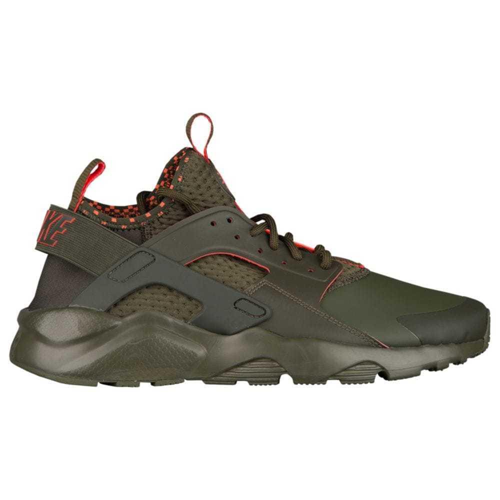 Nike Air Huarache Run Ultra SE Mens 875841-301 Cargo Khaki Crimson shoes Sz 8.5