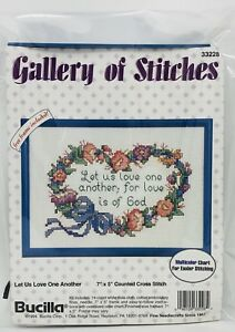 BUCILLA-Gallery-of-Stitches-Cross-Stitch-Kit-with-Frame-LET-US-LOVE-ONE-ANOTHER