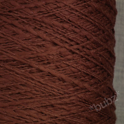 SOFT DK PURE COTTON FLAME YARN 500g CONE / 10 BALLS BURNT SIENNA DOUBLE KNITTING