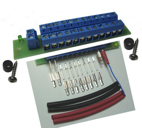 1 St Schrumpfsc 10 Stecker Buchsen Stromverteiler Verteiler mit STATUS LED