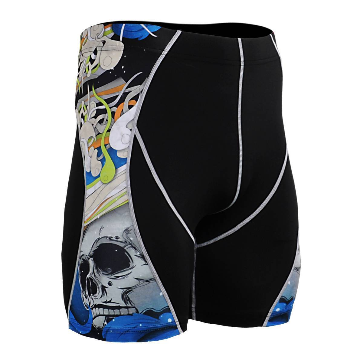 FIXGEAR P2S-B19B Compression Skin-Tights Shorts MMA Workout Training Fitness GYM