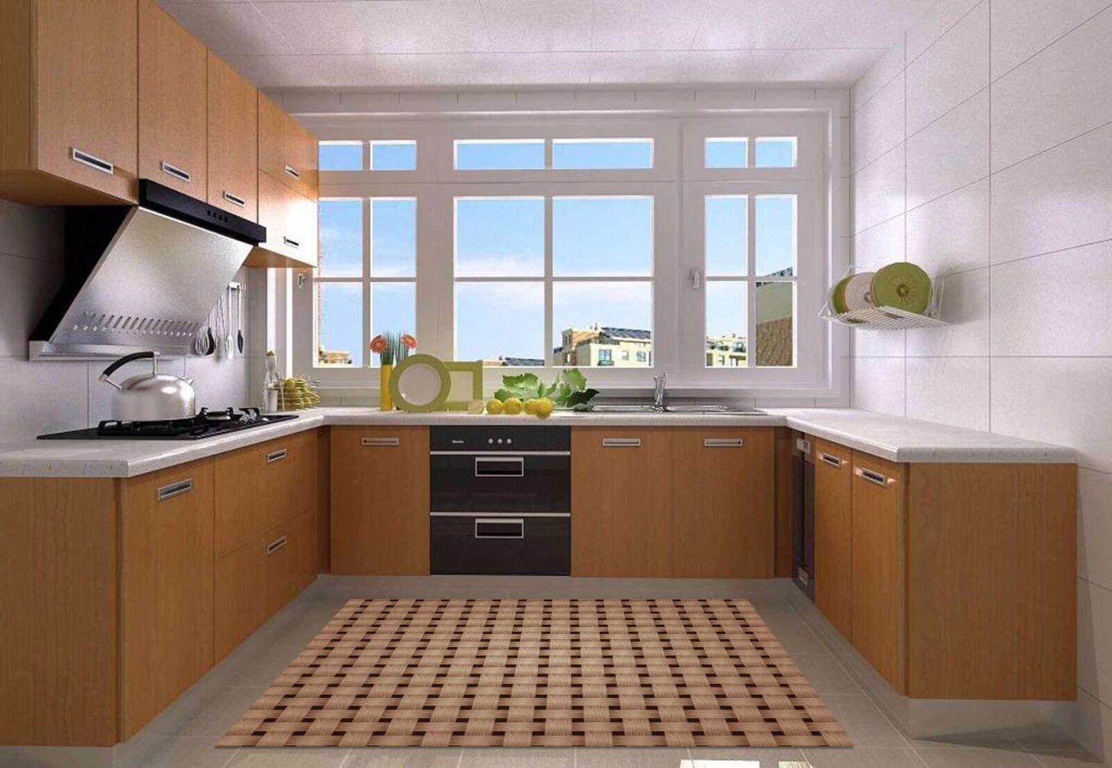 3D Braun Lattice 2 Kitchen Mat Floor Murals Wall Print Wall AJ WALLPAPER UK Kyra