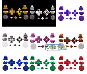 Details about Buttons Kit for PS4 Controller Custom Replacement Parts  Chrome Gloss Solid Color