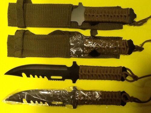 Lot de 4 Noir Survie couteaux urgence Doomsday Prepper Bug Out Bag Hunting