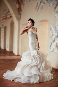 Wedding Dress In Ct.Details About Eddy K Wedding Dress Style Ct 186 Perfect Condition Ivory