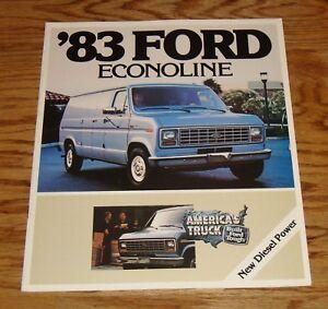 Details about Original 1983 Ford Econoline Sales Brochure 1/83 Van