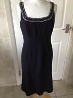 Ben De Lisi Ladies Black Long Jewelled Sleeveless Dress Size 10. BNWT.