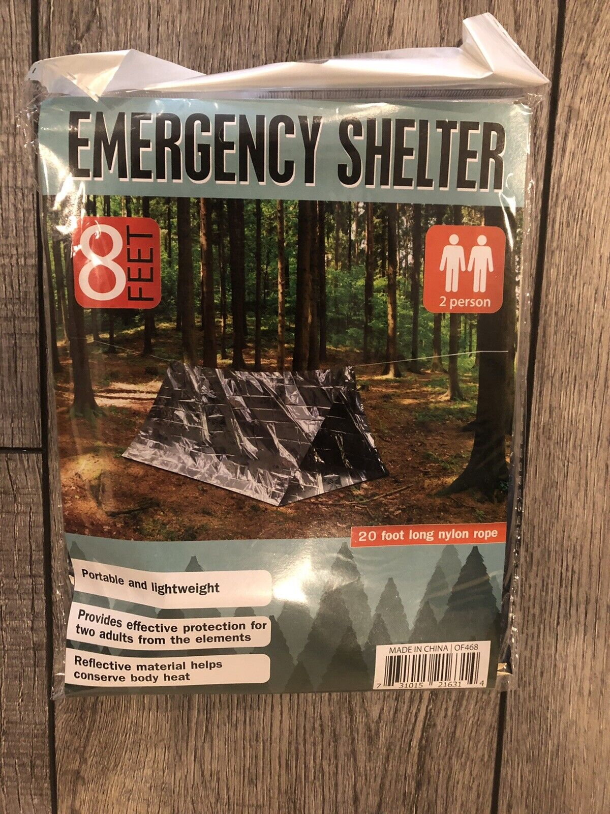 Survival Shack Emergency Shelter Tent 2 Person Mylar Thermal 8 X 5 All Weather for sale online