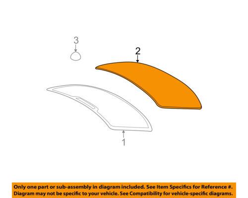 BMW OEM 01-06 325Ci Rear Window Glass-Reveal Molding 51318208471