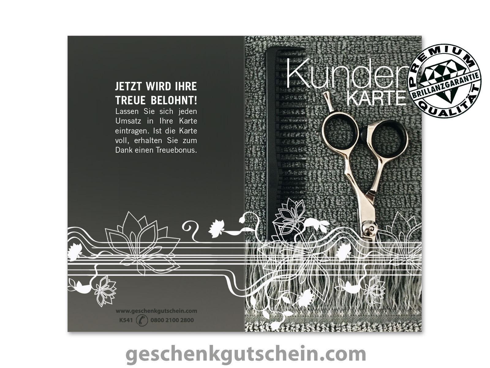 Kundenkarten für Friseure Coiffeur Haarstudio Hairstyling Frisöre K541   Stilvoll und lustig    Genial Und Praktisch