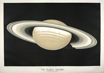 The Planet Saturn Fine Art Print//Poster Etienne Leopold Trouvelot