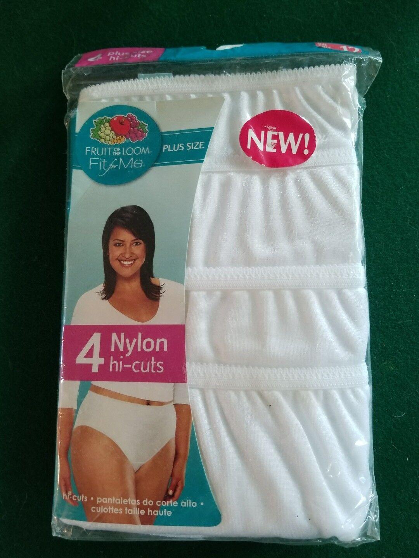 8924e7858e8c Womens Fruit of The Loom Nylon Briefs Cotton Crotch 4 Plus Size 12 ...