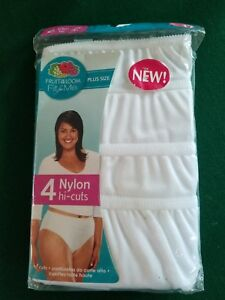 9d8f09940 NWT Fruit of the Loom Fit For Me Plus Size Nylon Hi-Cut Panties 4 ...
