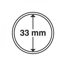 Capsules pour pièces de monnaie diamètre intérieur 33 mm 320931
