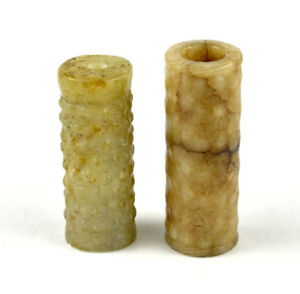 PAIR-OF-CHINESE-EASTERN-ZHOU-DYNASTY-JADE-BEADS