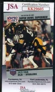 Jack Ham JSA Coa Autograph 1990 Pro Set Hand Signed