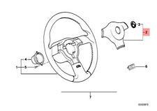 Genuine BMW E30 E32 E34 E36 Steering Wheel Horn Button Black OEM 32332226656