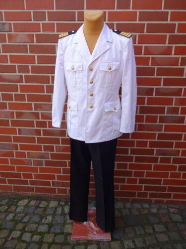 Bundeswehr Marine Uniform Hose Sakko Kostüm Kapitän Karneval Jacke Anzug weiß Bw