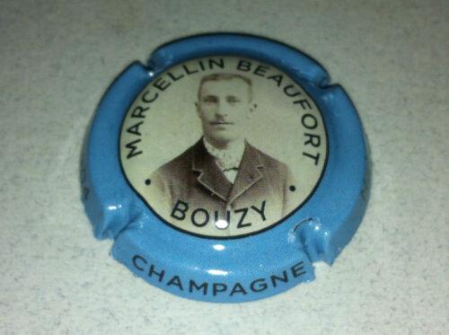 Capsule de champagne BEAUFORT Marcellin 2. contour bleu