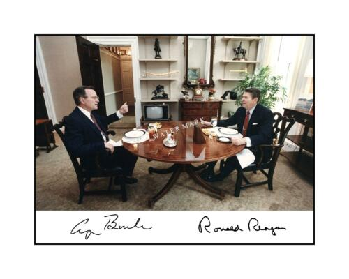 Bush Signed Autographed President Ronald Reagan 8x10 Photo Print George H.W