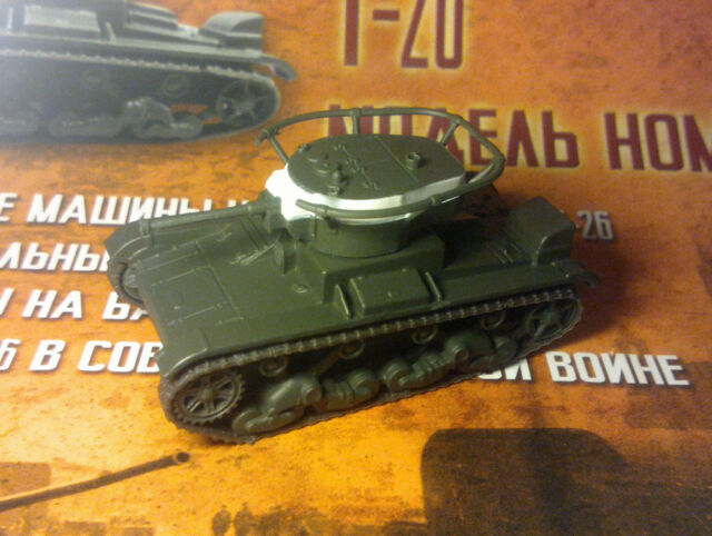 1/72 T-26 Soviet light tank 1931-1941 WWII + magazine #72