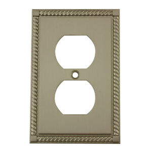 Image Is Loading Satin Nickel Single Duplex Outlet Decorative Wall Switchplate