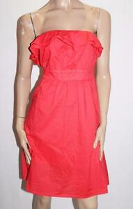Hot-Options-Brand-Poppy-Red-Frill-Strapless-Dress-Size-12-M-BNWT-SU67