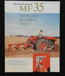 """1962 """"MASSEY-FERGUSON MF 35 GAS-DIESEL TRACTOR WORLD'S BEST SELLING"""" BROCHURE"""