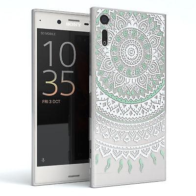 Hülle für Sony Xperia XZ Schutz Cover Handy Case Motiv Henna Türkis