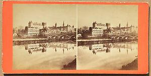 Pau Vista Generale Pyrenees-Atlantico Vintage Albumina Ca 1880