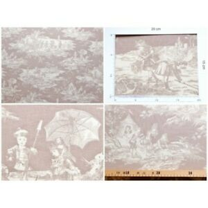 Coupon-fabric-toile-de-jouy-story-water-fd-beige