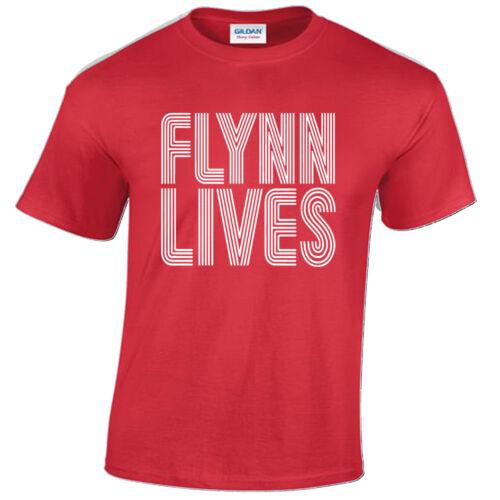 Flynn Lives T Shirt Mens Kevin Flynns Arcade Gift Present Retro