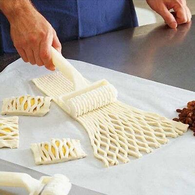 DIY Plastic Baking Tool Cookie Pie Pizza Bread Pastry Lattice Roller Cutter JX